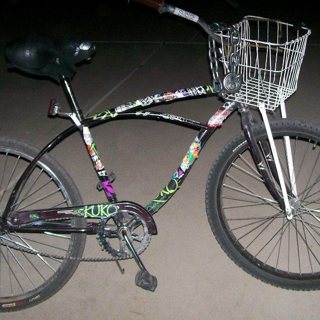 James' bike.