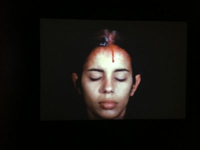 "Ana Mendieta ""Sweating Blood"""